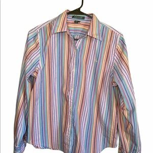 Lauren Ralph Lauren Vintage Pastels Button Shirt M